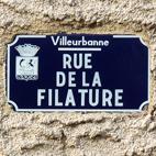Rue de la filature, dans le quartier des Poulettes (Villeurbanne)