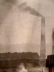Une cheminée d'usine à Villeurbanne