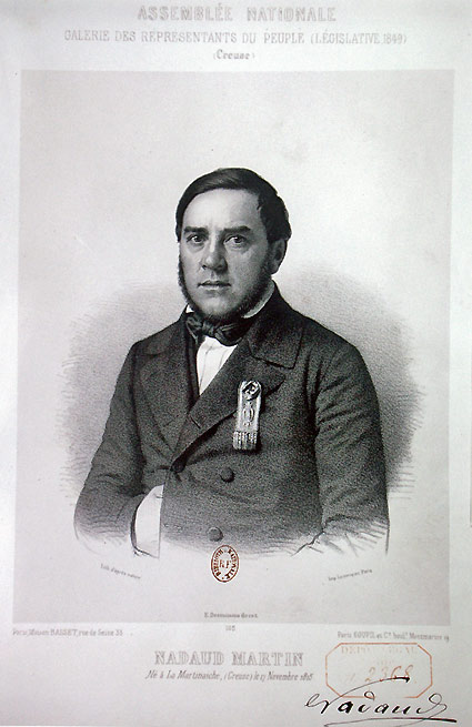 Martin Nadaud, député en 1849