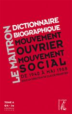 Maitron - Dictionnaire biographique que mouvement ouvrier